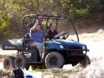 Daughter Amber and Scott take a spin in the Ranger
