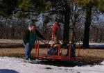 Eric, Dana, and the boys at the park in Eufaula