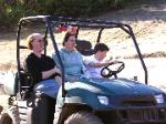 Grandson Jade takes the wheel, lookout for that ditch.