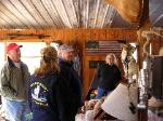 We tour James cabin with Bubba Knight (left) and his wife Margaret Studstill Knight (right)