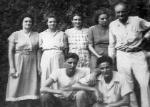 The Studstill family from left: Jessie, Margaret (mother), Virginia, Lucille, Albert (father), boys Ralph and Albert Jr.